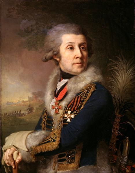 Portrait of F. A. Borovsky - Vladimir Borovikovsky