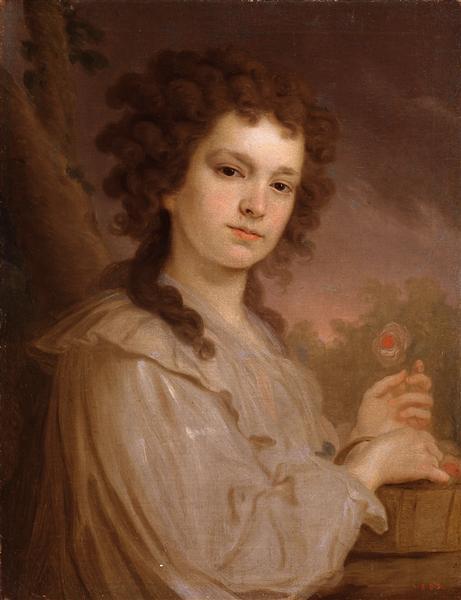 Portrait ofOlgaFilippovaKuzminichna - Vladimir Borovikovsky