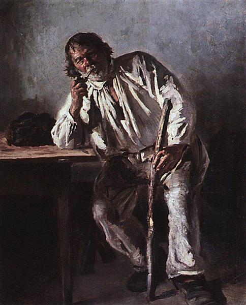 Old man with a pipe, 1881 - Володимир Маковський
