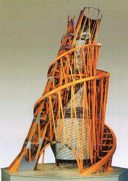 Model of the monument III International, 1919 - 1920 - Vladimir Tatlin