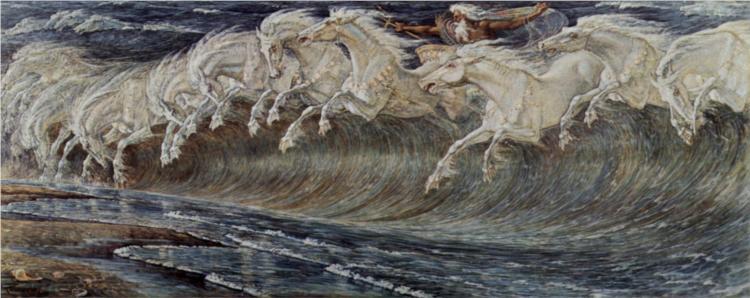 Neptun's Horses, 1893 - Walter Crane