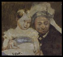 Queen Victoria and her great-grandson - Walter Sickert