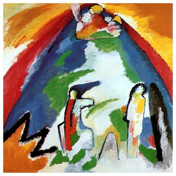 A mountain, 1909 - Wassily Kandinsky