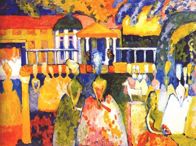 Crinolines, 1909 - Wassily Kandinsky