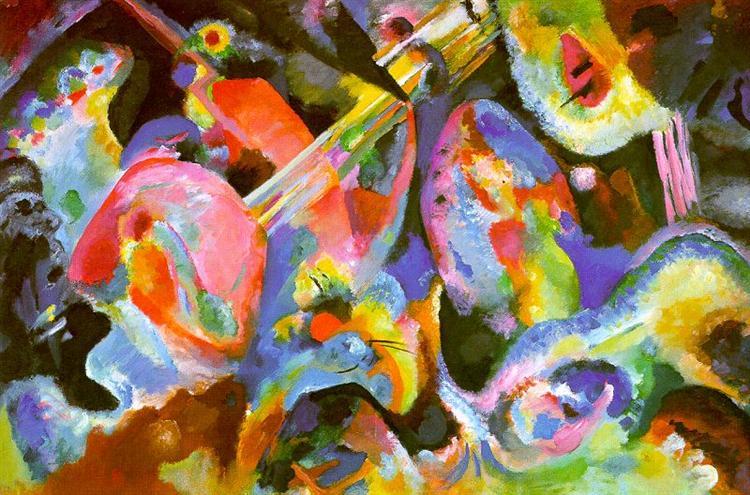 Improvisation. Deluge., 1913 - Wassily Kandinsky