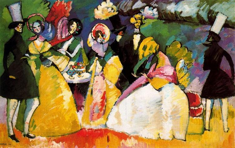 Group in Crinolines, 1909 - Wassily Kandinsky