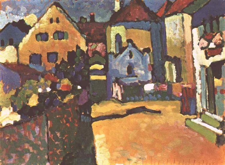 Grungasse in Murnau, 1909 - Wassily Kandinsky