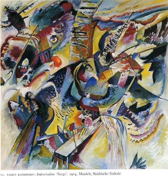 Improvisation. Gorge, 1914 - Wassily Kandinsky