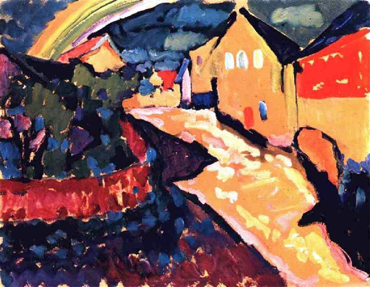 Murnau with rainbow, 1909 - Wassily Kandinsky