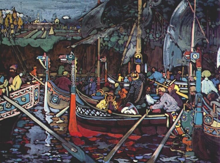 Volga song, 1906 - Wassily Kandinsky