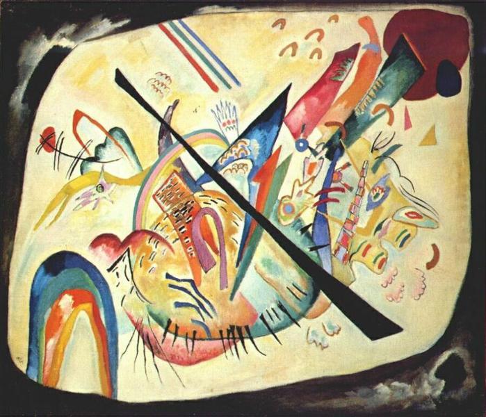 White oval, 1919 - Wassily Kandinsky