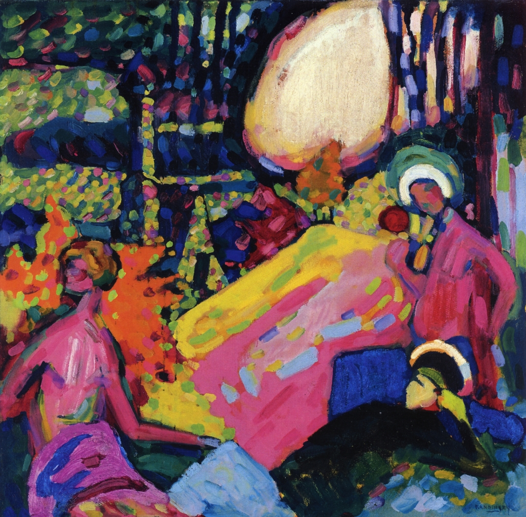 White sound wassily kandinsky for Artistic mural works