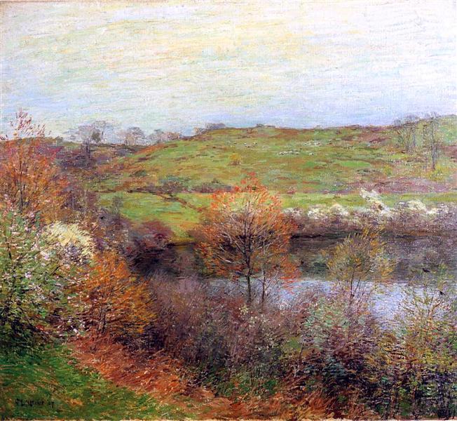 Buds and Blossoms, 1907 - Willard Metcalf