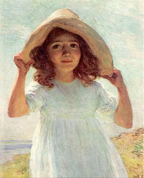 Child in Sunlight, 1915 - Willard Metcalf