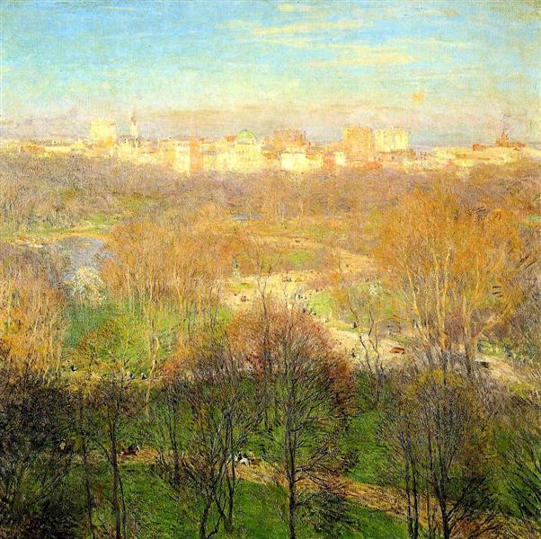 Early Spring Afternoon, Central Park, 1911 - Willard Metcalf