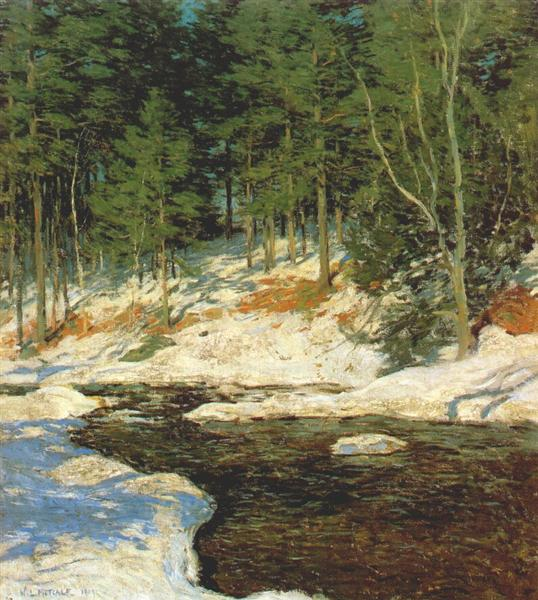 Icebound - Willard Metcalf