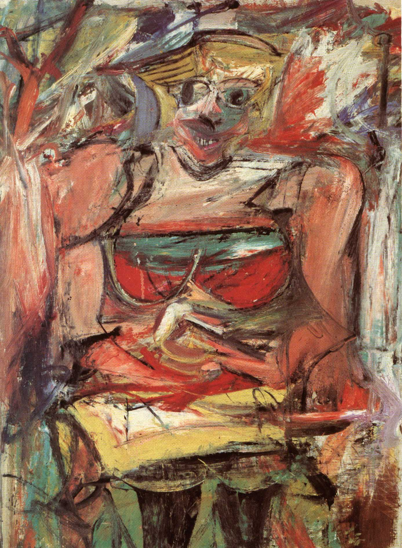 Woman V  1952-53  oil  amp  charcoal on canvas Willem De Kooning Abstract Expressionist Paintings