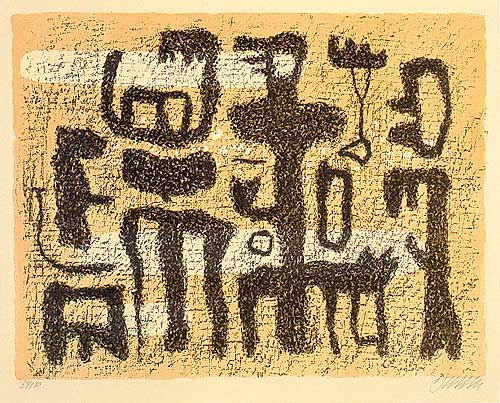 African Tale, 1946 - Willi Baumeister
