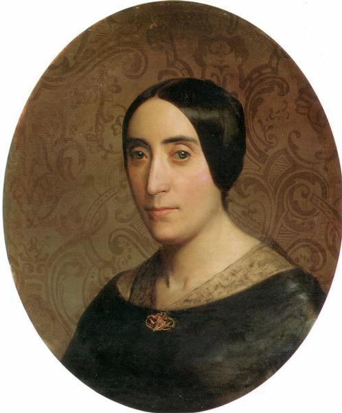 A Portrait of Amelina Dufaud, 1850 - William-Adolphe Bouguereau