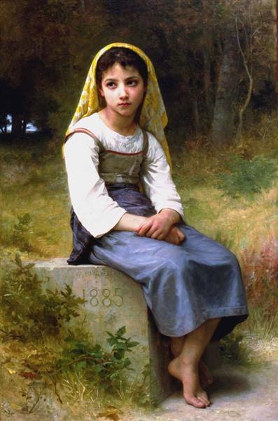 Meditation, 1885 - William-Adolphe Bouguereau