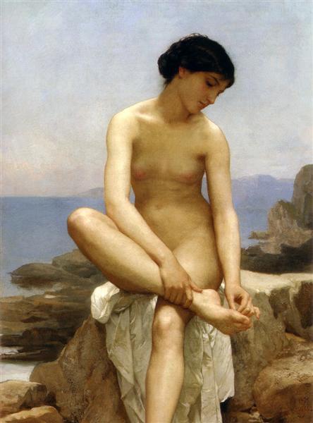 The Bather, 1879 - William-Adolphe Bouguereau