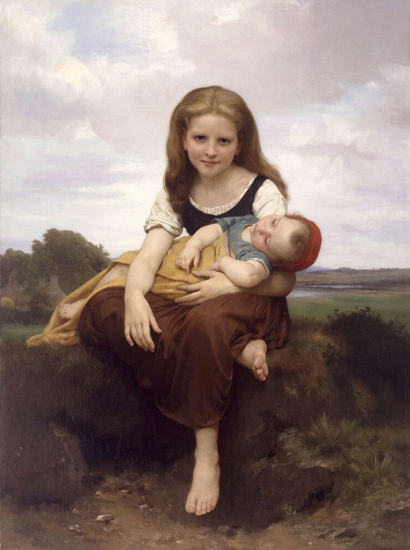 Adorables caritas de niños. The-elder-sister