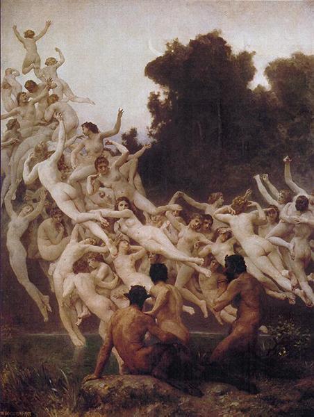 The Oreads, 1902 - William Adolphe Bouguereau