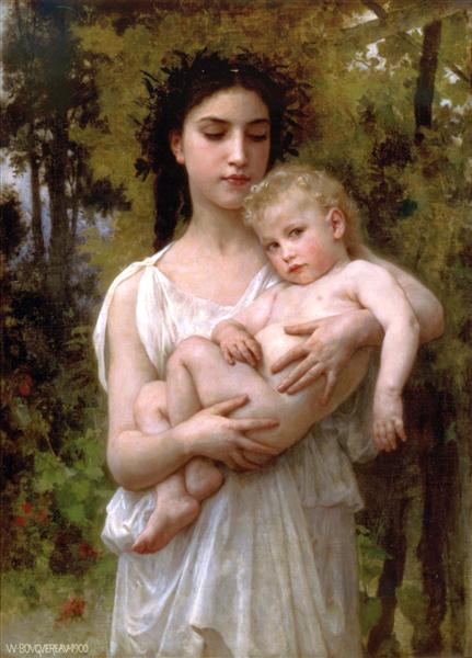 The younger brother, 1900 - William Adolphe Bouguereau