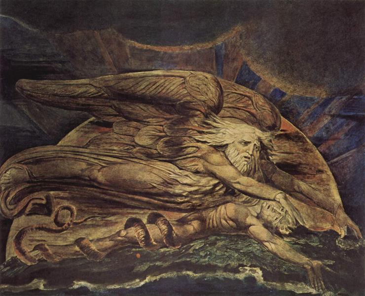 And Elohim created Adam, 1795 - William Blake