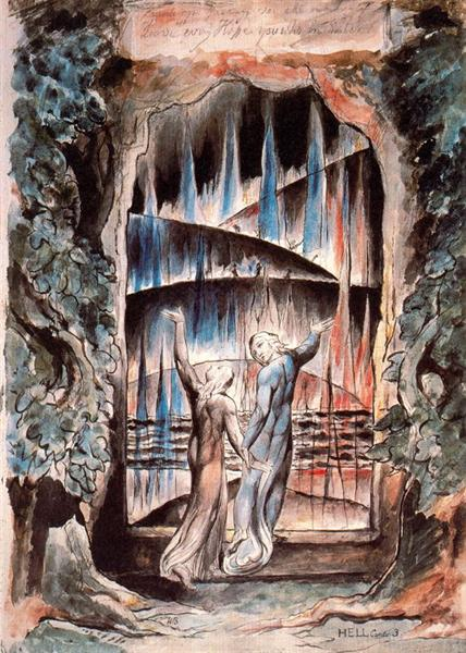Dante and Virgil at the Gates of Hell - William Blake