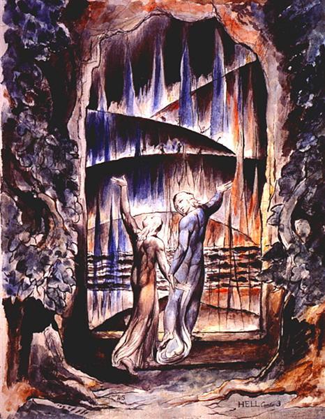 Illustration to Dante's Divine Comedy - William Blake