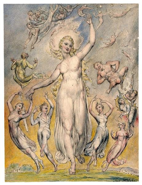 Mirth, 1816 - 1820 - William Blake