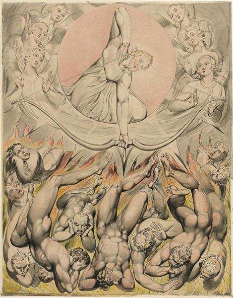 The Casting of the Rebel Angels into Hell, 1808 - William Blake