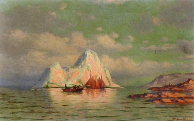Fishing Boats on the Coast of Labrador, 1885 - William Bradford