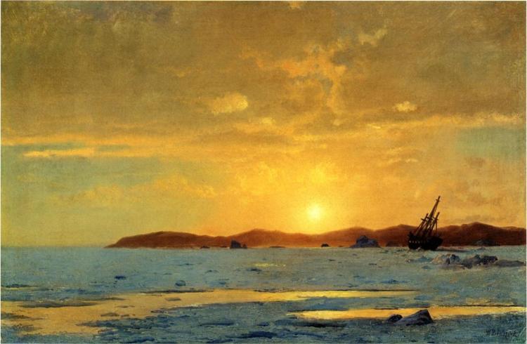 The Panther, Icebound, 1869 - William Bradford