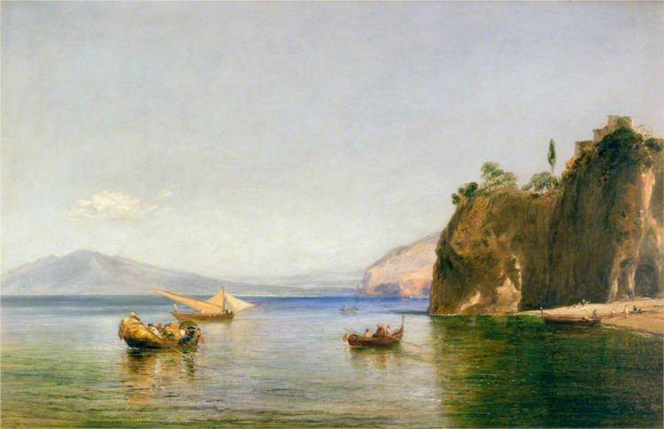 The Caves of Ulysses at Sorrento, Naples, 1843 - Уильям Коллинз