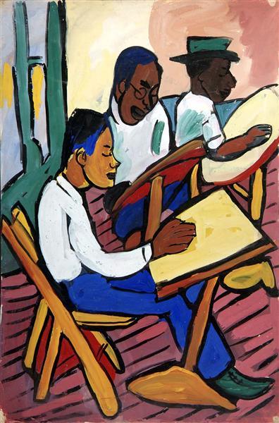 Art Class - Three Men, 1939 - William H. Johnson
