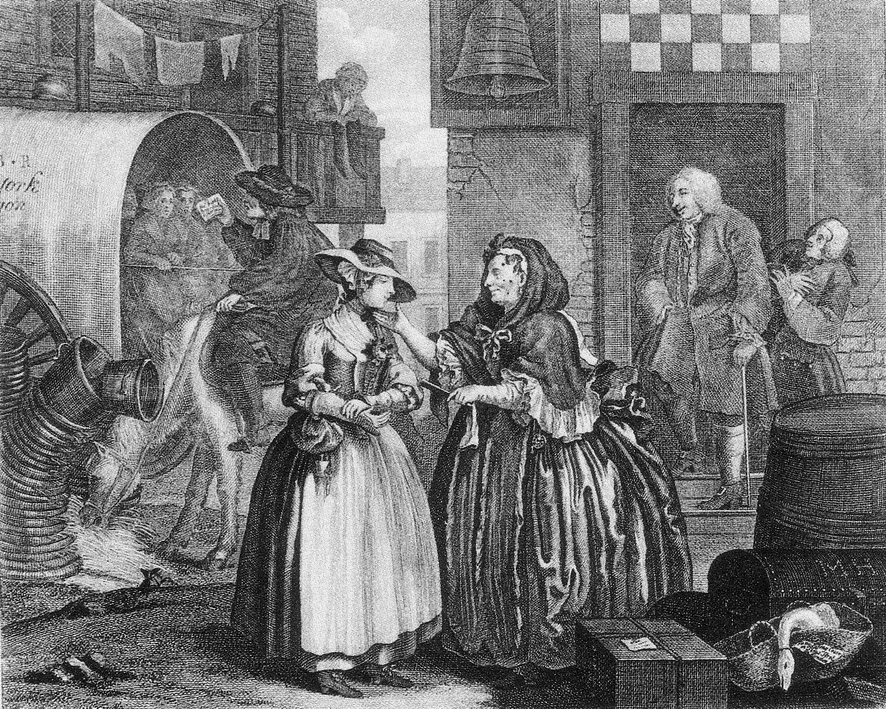 an analysis of harlots progress a series of prints by william hogarth William hogarth and the first georgians: social commentary on show william hogarth, a harlot's progress this set of prints derive from a series of oil.
