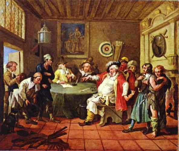 Falstaff Examining His Recruits, 1728 - William Hogarth