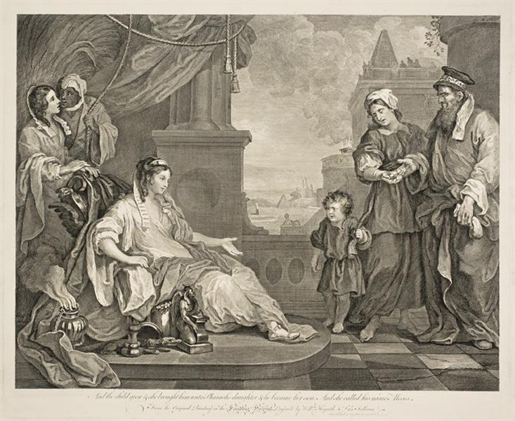 Moses Brought to the Pharaoh's Daughter, 1752 - William Hogarth