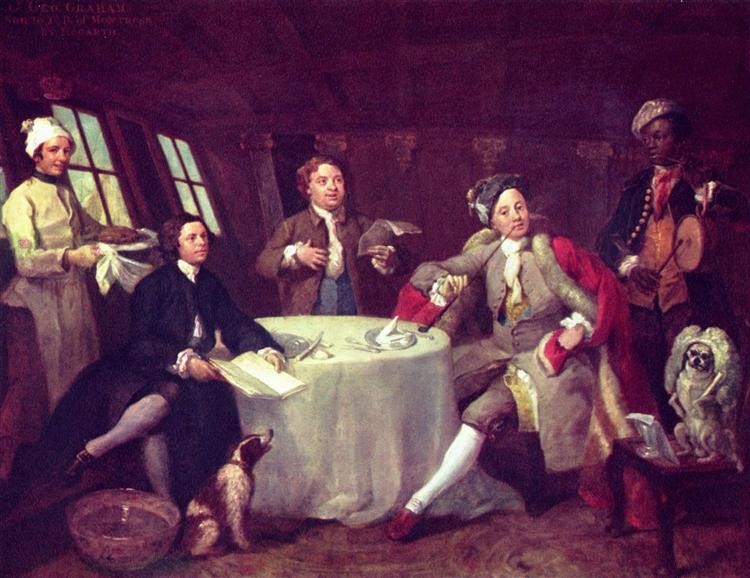 Portrait of Lord George Graham in his saloon - William Hogarth