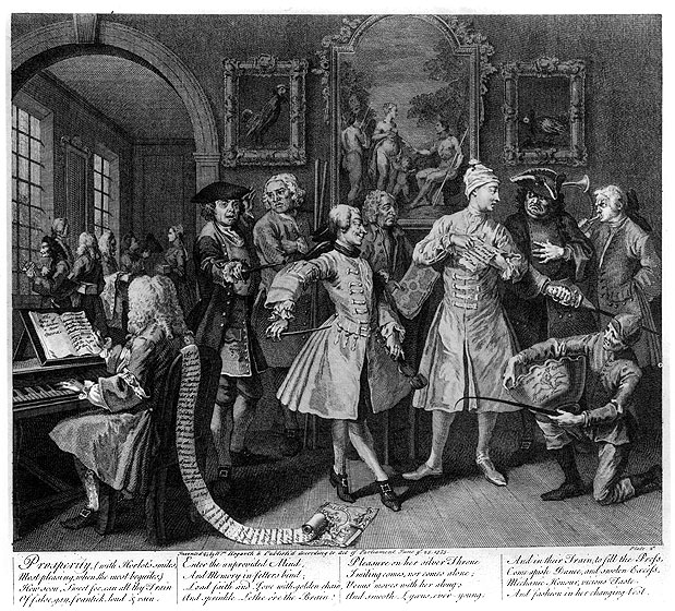 Surrounded by Artists and Professors - William Hogarth