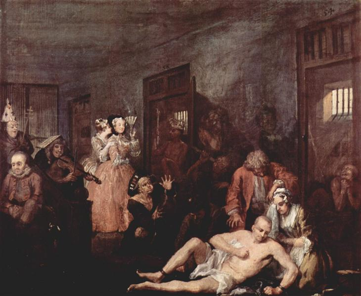 The Madhouse, 1732 - 1735 - William Hogarth
