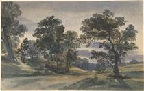 A Parkland View at Dusk - Вільям Лейтон Лейтч