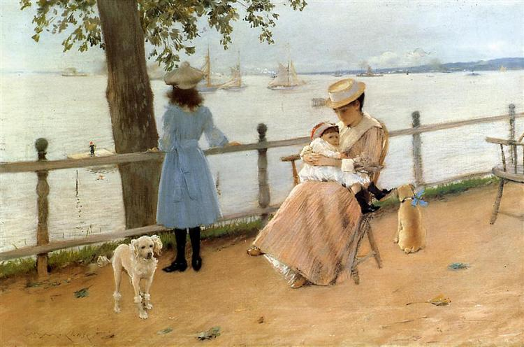 Afternoon by the Sea (aka Gravesend Bay), 1888 - William Merritt Chase