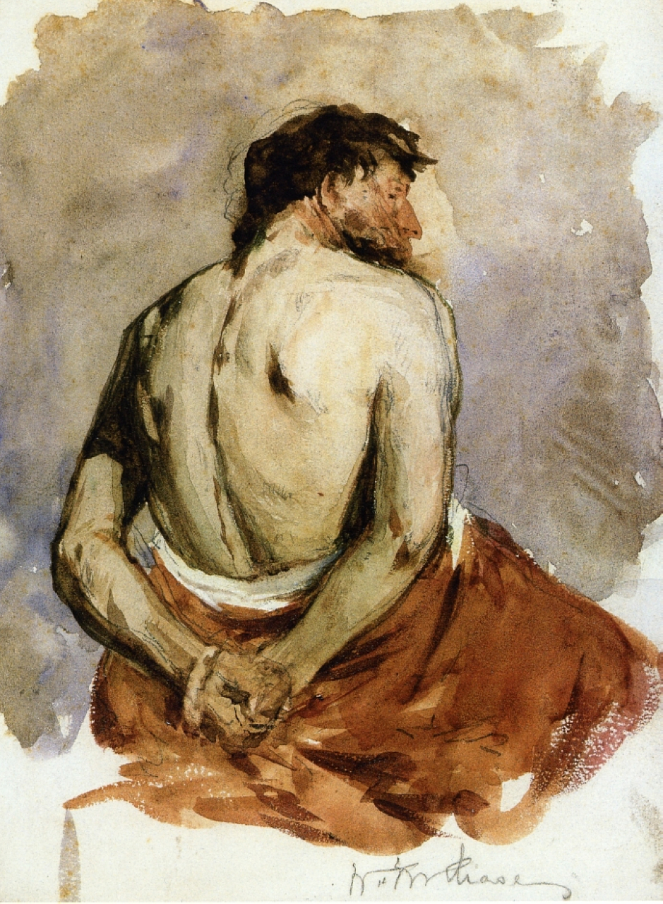 williamchase_back of a male figure - william merritt chase - .