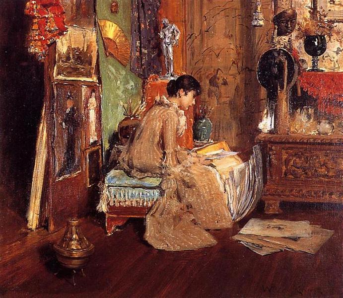 Connoisseur - The Studio Corner, 1882 - William Merritt Chase