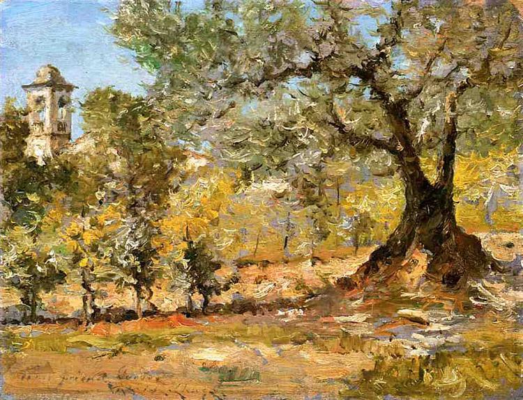 Olive Trees, Florence, 1911 - William Merritt Chase