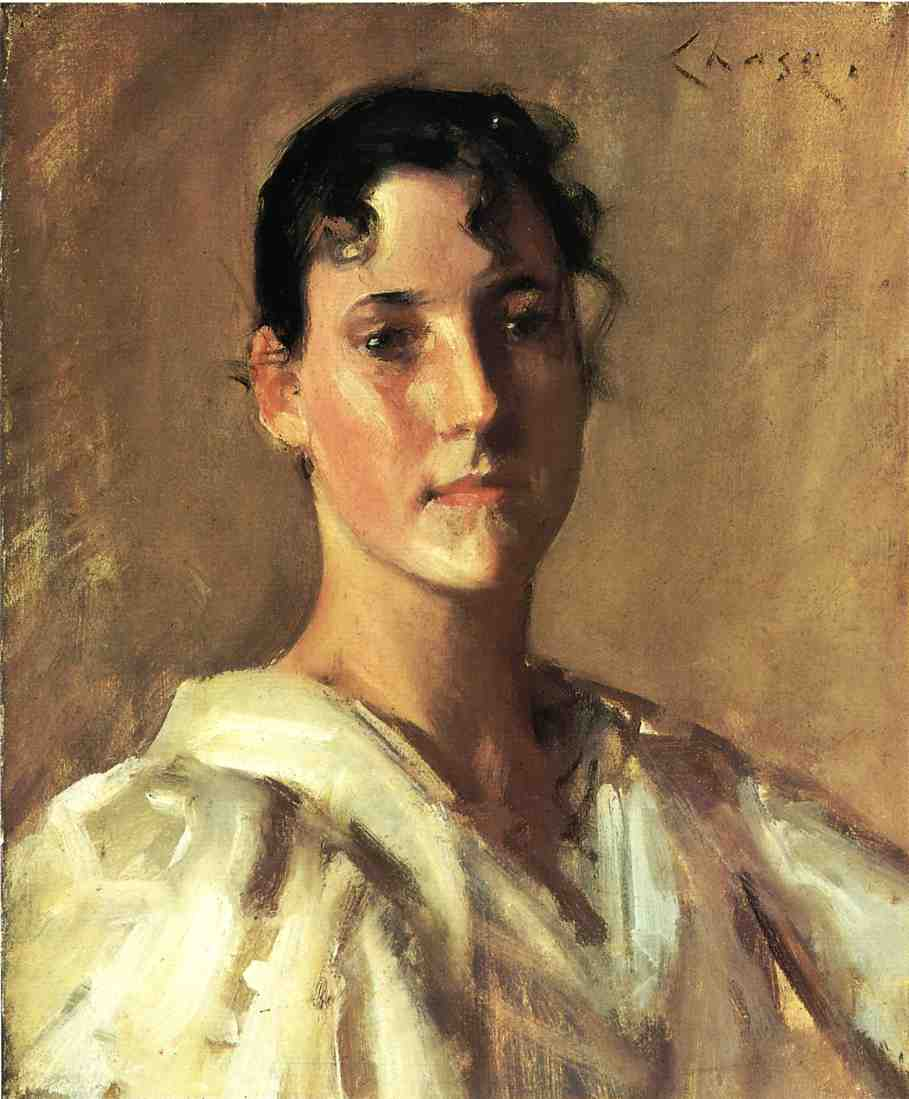 Portrait of a Woman - William Merritt Chase - WikiArt.org