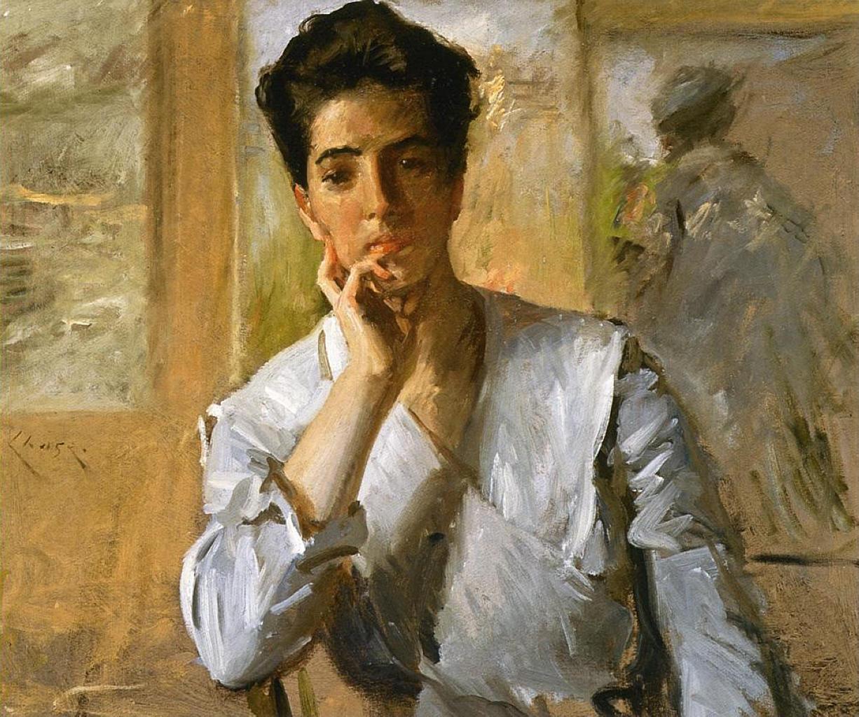 Portrait of Kate Freeman Clark, 1902 - William Merritt ...